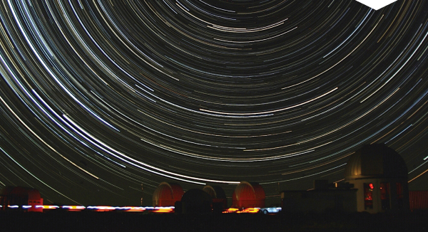 Star trail over Sutherland.